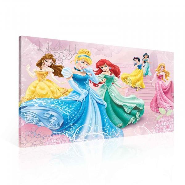 Disney Princesses Cinderella Ariel Belle Canvas Print 100cm x 75cm