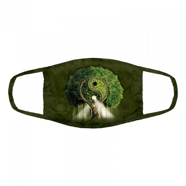 Yin Yang Tree Face Mask