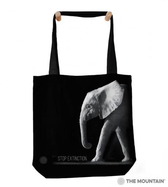 Tragetasche Stop Extinction Elephant