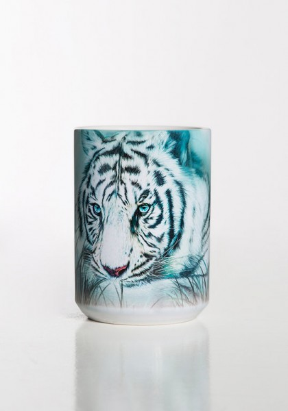 Taza Thoughtful White Tiger