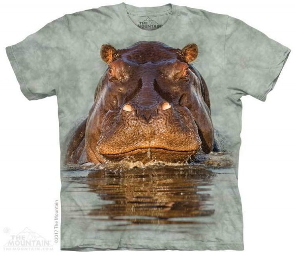 e149760f The Mountain KIDS T-shirt Hippo - The Coloured House | The Coloured House