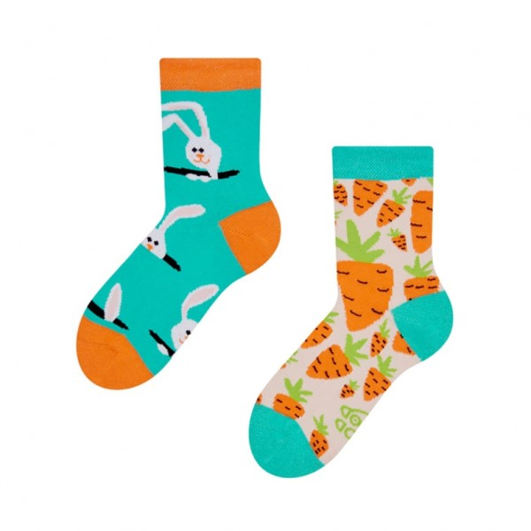 Good Mood Carrot Rabbit Unisex Kids Food & Animal Socks
