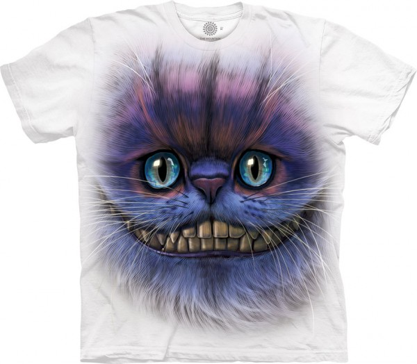 Cheshire Cat Art on White