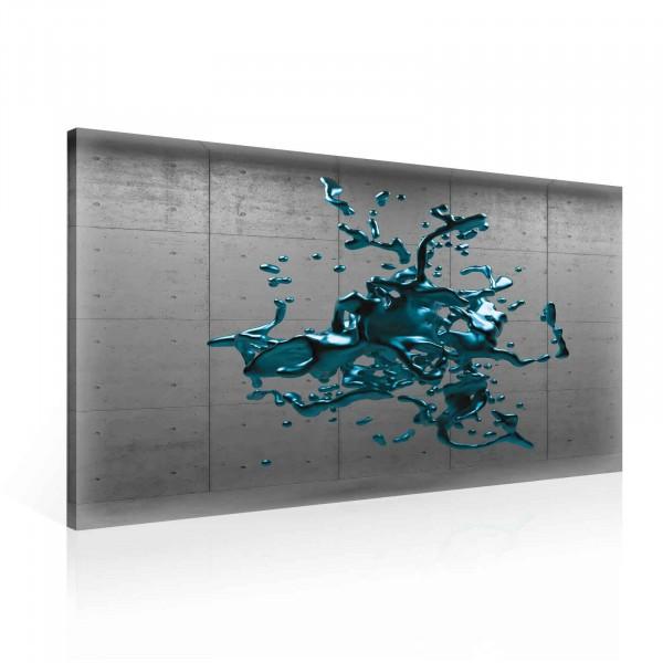 Turquoise Splash Canvas Print 100cm x 75cm