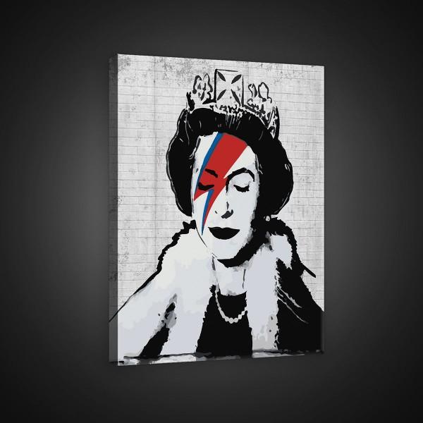 Banksy Queen David Bowie Diamond Jubilee Canvas Print 80cm x 60cm