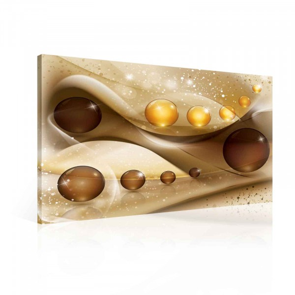 Abstract Spheres Canvas Print 80cm x 60cm