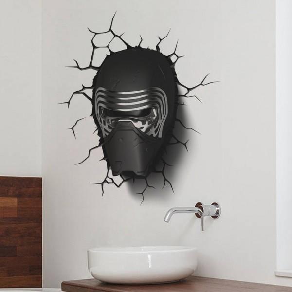 Star Wars Kylo Ren Mask Muursticker