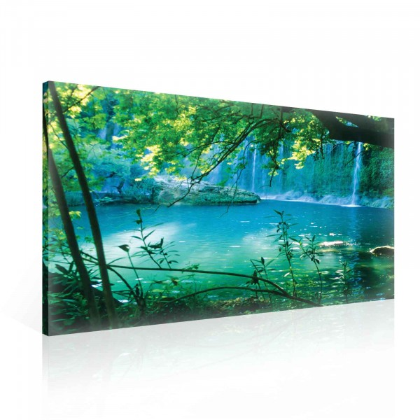 Forest Lake Water Nature Canvas Print 100cm x 75cm