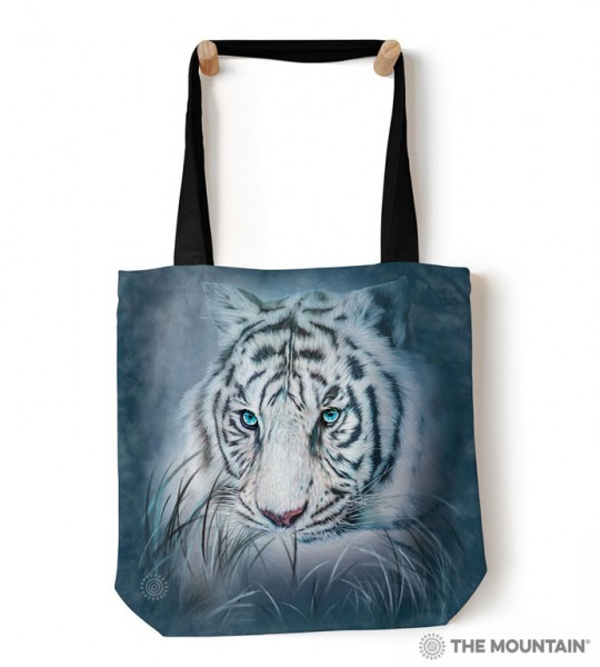 Tote Bag Thoughtful White Tiger