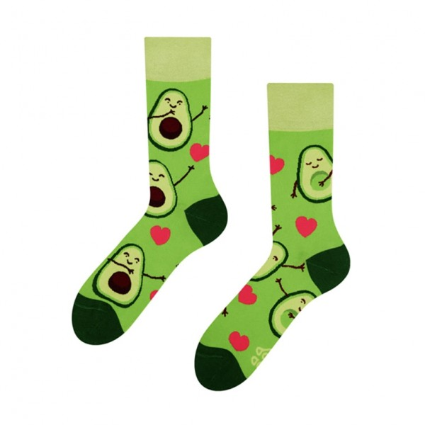 Good Mood Avocado Love Unisex Adult Food Socks