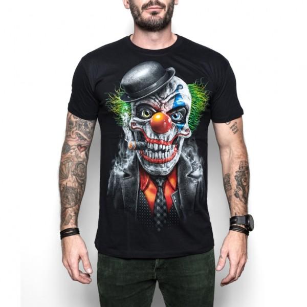 Cool Skullz Unisex Adult Joker Clown Skull Fantasy T Shirt