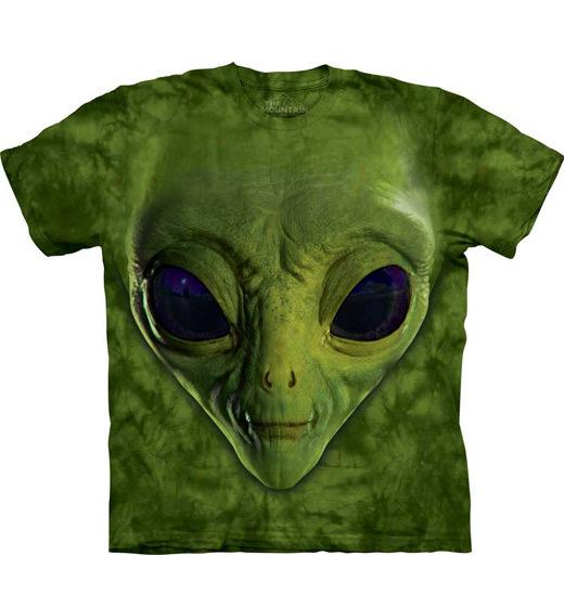 4bafeec9b21c The Mountain KIDS T-shirt Green Alien Face - The Coloured House ...