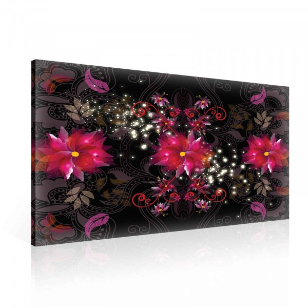 Elegant Flower Abstract Canvas Print 100cm x 75cm