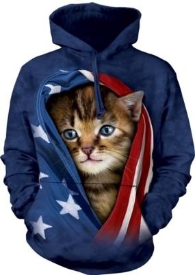 Patriotic Kitten Hoodie
