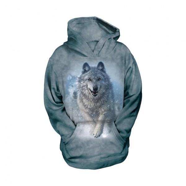 Snow Plow Wolf KIDS Hoodie
