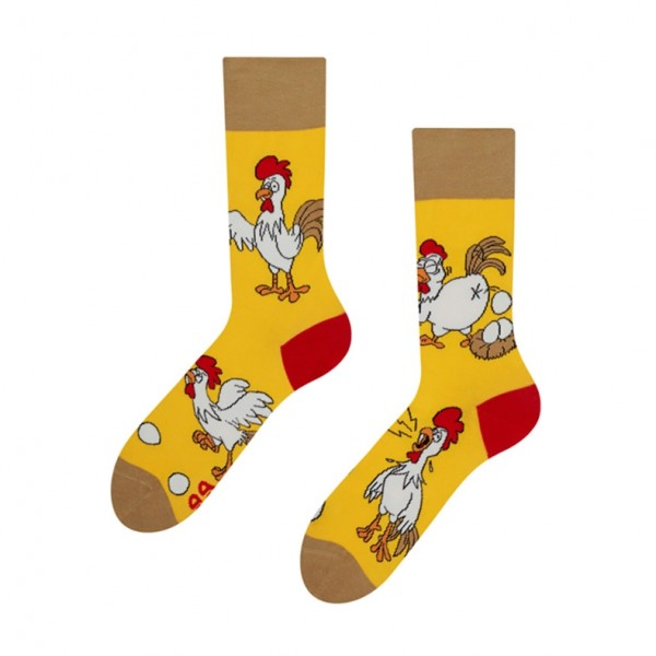 Good Mood Chicken or Egg Unisex Adult Farm Animal Socks