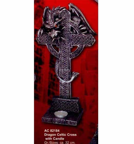 Dragon Celtic Cross Candle
