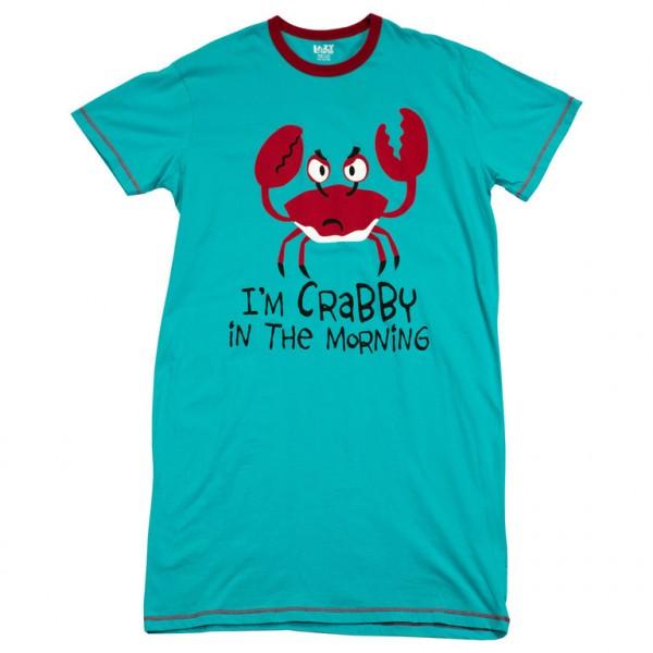 LazyOne Womens I'm Crabby Nightshirt