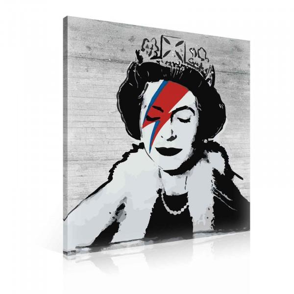 Banksy Queen David Bowie Diamond Jubilee Canvas Print 100cm x 75cm