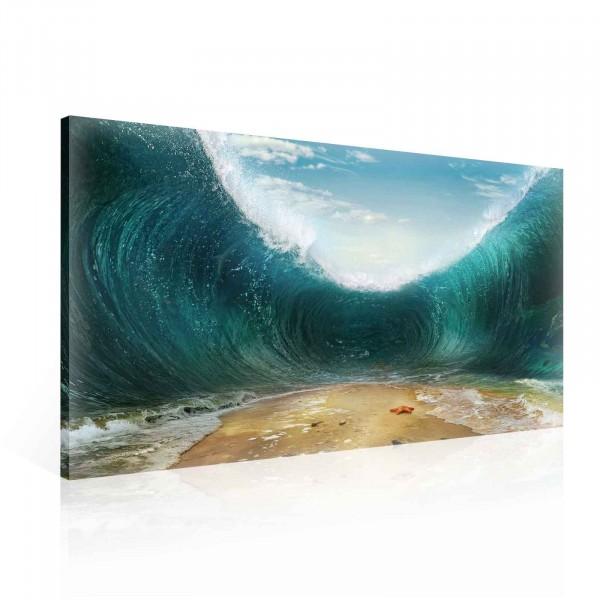Beach Waves Canvas Print 100cm x 75cm