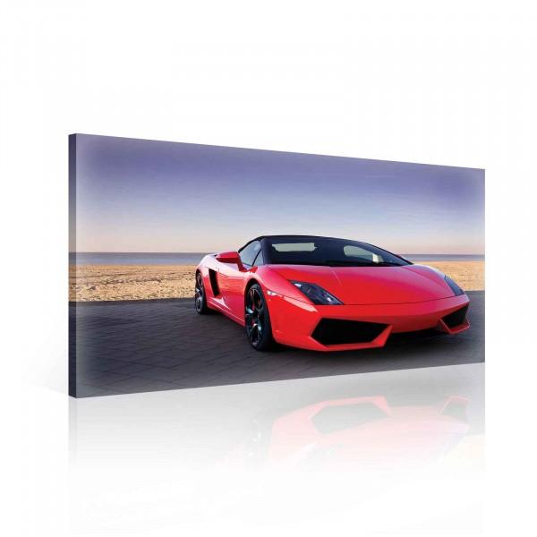 Car Lamborghini Luxury Red Canvas Print 60cm x 40cm